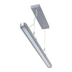 Lite Source - Fluorescent Ceiling Lamp, Silver, Fluorescent T5/6400K Tube 28W - Fluorescent Ceiling Lamp, Silver, Fluor. T5/6400K Tube 28W