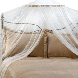 Yungjohann Hillman,inc Dba Mombasa - Siam Bed Canopy and Mosquito Net in Ivory - This decorative and functional mosquito net and bed canopy will decorate both your bed and bedroom with its sheer, flowing netting.