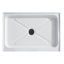 Vigo - 48 x 36 Rectangular Shower Tray White - This VIGO shower tray serves as an excellent solution to prevent leaks for your custom or pre-built shower enclosure. Constructed of acrylic with fiberglass reinforcement, this VIGO shower base features a single threshold, textured bottom for added safety