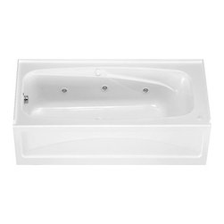 """American Standard - American Standard 1748.218.020 White Colony Colony 66"""" Acrylic - Product Features:Covered under a 2 year warranty, including in-home serviceManufactured and assembled in the United States of AmericaWhirlpool tub; legendary massage jetted actionAlcove installation: designed for niche / alcove installs; the three closed sides include a tile flange, open side includes a skirt leading down to the floorConstructed of ultra-durable fiberglass-reinforced acrylicSurfaced with the industry s best stain-blocking high-gloss finishTub proportions and contour designed by industry leading ergonomics engineersSlip-resistant flooring - textured finishing technique appliedTub waste (drain) is not included - this will be presented upon adding to cart, with multiple available finishesLuxury Bathing Experience:Whirlpool: Legendary for a reason, Whirlpool systems push air-induced water through strategically placed jets to target muscles that hold tension. They are so effective at relieving tension that they're widely used in sports and rehabilitation medicine. In the home, they provide for a retreat and relief from stress that is unlike any other.Technologies / Benefits:Simple Controls: A single button turns the whirlpool system on and off while two dials (one for each side of the tub) operate the whirlpool system power, from a gentle swirl to a deep-tissue massage. Perfectly simple.AcuMassage Jets: This state-of-the-art whirlpool system includes strategically placed AcuMax and AcuMotion jets. AcuMax jets move wide streams of water at a lower pressure for a deep tissue massage while AcuMotion rotary jets deliver more targeted swirling streams to invigorate areas such as your feet.Silent Air Induction: Whirlpool jets don't push just water – they push air too. In fact, it is the air"""