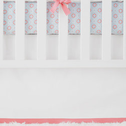 "Serena & Lily - Serena & Lily Nursery Basics Crib Skirt - The perfect backdrop for color and pattern, our versatile crib bedding works well with practically everything. Add any of our patterned crib sheets to create the look (or looks) you love. 100% cotton twill. Flat-front skirt with a contrasting band along bottom hem. White skirt has a white band along bottom hem. Machine wash. Imported. Drop length: 17""."