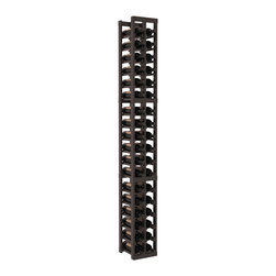 Wine Racks America - 2 Column Standard Wine Cellar Kit in Pine, Black + Satin Finish - We select from the highest grade materials available. Completely solid assembly retains strength and durability to withstand extensive use. We guarantee it. All the edges of our products are softened to ensure you won't get nicks or splinters, like you will from budget brands. You'll be satisfied. We guarantee that, too.