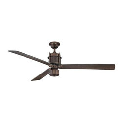 """Savoy House - Savoy House Muir 56"""" Ceiling Fan in Byzantine Bronze - Savoy House Muir 56"""" Model SV-56-870-3CN-35 in Byzantine Bronze with Chestnut Finished Blades."""