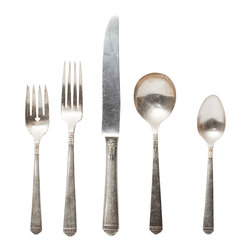 The European Kitchen Assorted Vintage 5-piece Place Setting - New is not always better. Complete your summer table with a unique set of vintage flatware that has the character and charm needed for the perfect summer soiree.
