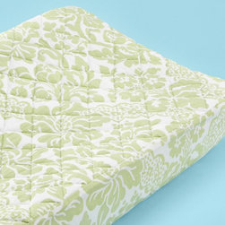 Changer Pad Cover, Green Flourish Floral - It can't hurt to have a few different changing covers on hand. I love that this one adds a little simple sophistication.