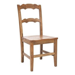 Safavieh - Beecher Side Chair (Set Of 2) - This Safavieh Furniture Beecher side chair set has a hickory finish. Crafted from solid elm wood and finished in a rustic hickory finish, the Beecher Side Chair has a great modern farmhouse look that is equally at home in country or city homes. With it's simple but sturdy design, the Beecher side chair is the ideal choice for casual, carefree dining.