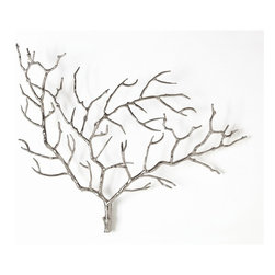 Arteriors - Edwin Tree Wall Sculpture - Branching out doesn't need to feel intimidating. This beautiful tree sculpture, for instance, makes a subtle and sophisticated statement on almost any wall without uprooting the rest of your design plans in the process.