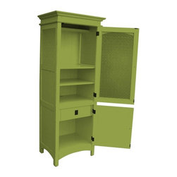 Trade Winds - New Trade Winds China Cabinet Green Painted - Product Details
