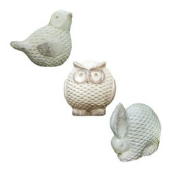 Lattice Tuscan Statuary Collection - A little ceramic statuary like one of these would look so cute in the garden or on a side table on the front porch.