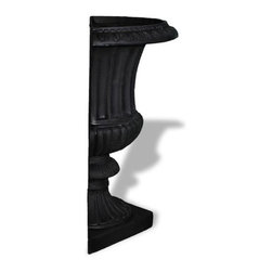 Amedeo Design, LLC - USA - Half Classic Ribbed Urn (2 Halves) - Our Classic Ribbed Urn is a traditional urn for any garden or outdoor display. We also produce them in 2 halves; a variation you can use for tighter spaces. Though they look like ancient European & Mediterranean designs in carved stone Made in USA.