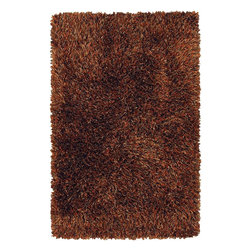 """Chandra - Shag Iris 5'x7'6"""" Rectangle Brown-Red Area Rug - The Iris area rug Collection offers an affordable assortment of Shag stylings. Iris features a blend of natural Brown-Red color. Handmade of Polyester the Iris Collection is an intriguing compliment to any decor."""