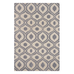 Momeni Rug - Momeni Rug Bliss 2' x 3' BS-09 Grey BLISSBS-09GRY2030 - With hand carving to bring depth, the Bliss Collection is perfect for the transitional home that blurs the line between traditional and contemporary. These rugs are hand tufted from the softest blends of polyester and are meant to stand the test of time. Bliss spotlights bold patterns and rich earthen colors that add character and personality to any room in the home.