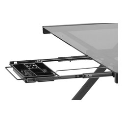Eurostyle - Eurostyle Hanging File & Pencil Tray in Graphite Black - File & Pencil Tray in Graphite Black belongs to Hanging Collection by Eurostyle The small and medium desks have a shelf over the workstation for monitors and storage (Keyboard Tray sold separately). Each piece is carefully crafted using tempered glass and a graphite powder epoxy coated steel frame. Adjustable feet for leveling. Simplify your office organization with a Hanging File (each sold separately). File & Pencil Tray (1)