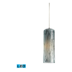 Elk Lighting - Elk Lighting Maple 1 Light Pendant in Satin Nickel w/ Maple Dusk - 1 Light Pendant in Satin Nickel w/ Maple Dusk belongs to Maple Collection by Individuality Is What Defines This Exquisite Line Of Hand Blown Glass. Each Piece Is Meticulously Hand Blown With Up To Three Layers Of Uncompromising Beauty And Style. Pendant (1)
