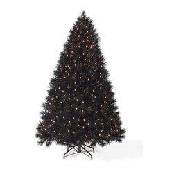 Classy Black Christmas Tree - On top of the hot holiday trends this year, the Classy Black Christmas Tree will be a conversation piece for your holiday parties. Featuring high gloss needles, this black artificial Christmas tree looks festive and bold with its clear lights and matching black tree stand. Add elegance and a touch of drama to your holiday decoration with the stylish Classy Black Tree!
