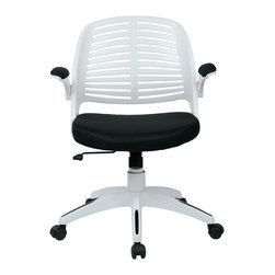 Ave Six - Tyler Office Chair, Black - The Tyler Office Chair is an ergonomic mesh-back task and office chair produced by Ave Six of Office Star.  Available in 6 colors, ready to ship today!