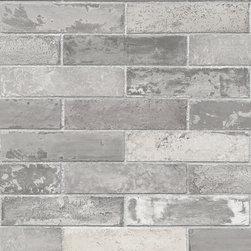 Norwall - Faux Brick Wallpaper Double Roll Solid vinyl - 1 Double Roll