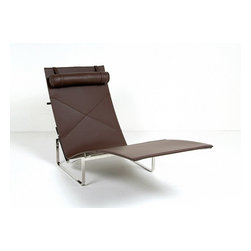 Modern Classics - Kjaerholm: PK24 Chaise Lounge Reproduction - Features:
