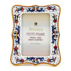 Artistica - Hand Made in Italy - Photo Frame: Ricco Deruta - Deruta Photo Frames: