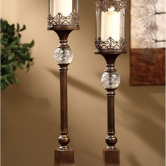 traditional candles and candle holders by Hayneedle