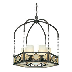 Troy Lighting - Transitional Six Light ChandelierHarlequin Collection - Being a Leader in an Industry requires many attributes.