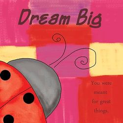 Oh How Cute Kids by Serena Bowman - Modern Ladybug, Ready To Hang Canvas Kid's Wall Decor, 16 X 20 - Each kid is unique in his/her own way, so why shouldn't their wall decor be as well! With our extensive selection of canvas wall art for kids, from princesses to spaceships, from cowboys to traveling girls, we'll help you find that perfect piece for your special one.  Or you can fill the entire room with our imaginative art; every canvas is part of a coordinated series, an easy way to provide a complete and unified look for any room.