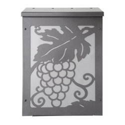 Grapevine Shadowbox Wall-Mount Mailbox - Dk. Bronze Mailbox - Nickel Panel - Bring a feeling of merriment to your home with The Grapevine Shadowbox Wall-Mount Mailbox. The mailbox is made of long lasting galvanized steel.