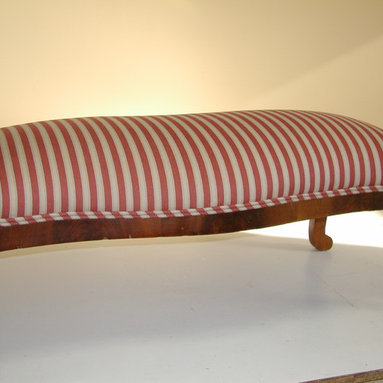 Some of our work - upholstered bench, open arm chair, wing chair -