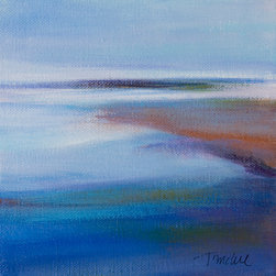 Teresa McCue - Summer Light 3 by Teresa McCue - Make summer last forever! Teresa McCue blurs the lines between sea, sky and shoreline in a beautiful blend of blues, reds and violets. Transform your home into a seaside getaway or keep this series for the cottage. Either way, you've got an abstract collection that's sea and gallery-worthy.