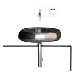 "ModoBath - Glo Ball IL01 Stainless Steel Sink 15.7"" - Glo Ball IL01, Vessel Bathroom Sink, 15.7"" Dia. x 4.2"" H, in Stainless Steel"