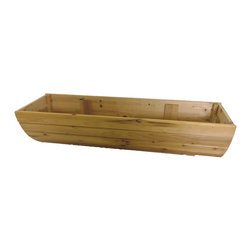 "Master Garden Products - Hanging Cedar Wood Window Box, 36"" - This charming window box has been used for centuries all over the world to dress up plain, somber windows."