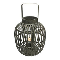 Vita V Home Gola Round Lantern - About Vita V HomeLocated in Elk Grove Village, Illinois, Vita V Home is dedicated to bringing the world's best home decor and accessories to you. Spanning contemporary, transitional, and traditional styles in everything from hand-blown glass to carved wood to cast resin, this incredible collection is ready to add to any space.