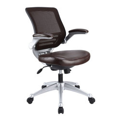 Modway - Edge Office Chair EEI-597 Brown - Welcome to a new era in functional comfort. The Edge office chair combines old time charm with cutting edge ergonomics to deliver one comprehensive seating experience. Every feature imaginable in a chair is available as soon as you sit down. This is a chair that you can conform to behave exactly how you need it. The Edge Office Chair giving you the comfort you need when you need it most.