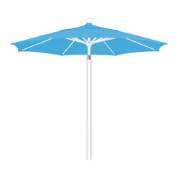 California Umbrella - 7.5 Foot Olefin Fabric Aluminum Pulley Lift Patio Market Umbrella, White Pole - California Umbrella, Inc. has been producing high quality patio umbrellas and frames for over 50-years. The California Umbrella trademark is immediately recognized for its standard in engineering and innovation among all brands in the United States. As a leader in the industry, they strive to provide you with products and service that will satisfy even the most demanding consumers.