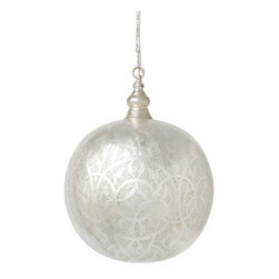 Filigree Spheres - Have you ever seen lighting this beautiful? Each Filigree Sphere is hand-crafted using centuries-old techniques. The patterns are so delicate and refined.