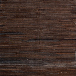 "ALRUG - Handmade Chocolate Oriental Kilim  6' 5"" x 9' 7"" (ft) - This Afghan Kilim design rug is hand-knotted with Wool on Wool."