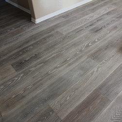 """Residential remodel - Tarzana - Custom 10"""" wide plank European Oak"""