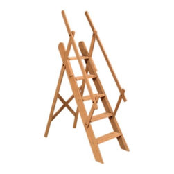 Westminster Oak Library Ladder - Solid oak construction