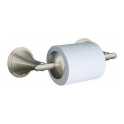 KOHLER - KOHLER K-361-BN Finial Traditional Toilet Tissue Holder in Brushed Nickel - KOHLER K-361-BN Finial Traditional Toilet Tissue Holder in Brushed NickelLend a touch of added elegance to your bath or powder room with this Finial Traditional toilet tissue holder, which complements the Finial faucet collection.KOHLER K-361-BN Finial Traditional Toilet Tissue Holder in Brushed Nickel, Features:• Kohler plumbing products mean beautiful form as much as reliable function