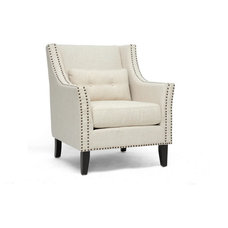 Transitional Armchairs by Baxton Studio