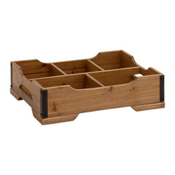 Classy Styled Patterned Wood Storage Tray - Description:
