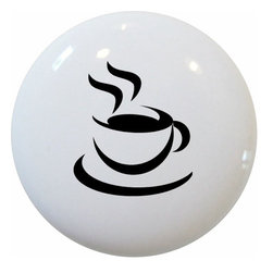 Carolina Hardware and Decor, LLC - Java Black Coffee Ceramic Knob - New 1 1/2 inch ceramic cabinet, drawer, or furniture knob with mounting hardware included. Also works great on bi-fold closet doors (may require longer screws). Item can be wiped clean with a soft damp cloth. Great addition and nice finishing touch to any room!