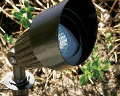 Dabmar - LV101 Low Voltage MR16  Landscape Directional Spotlight with Hood - LV101 Low Voltage Landscape Directional Spotlight with Hood
