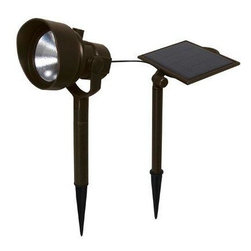 Malibu Lighting - Solar 54 Lumen Spotlight - 54 lumen solar spotlight, metal construction with oil rubbed bronze finish.