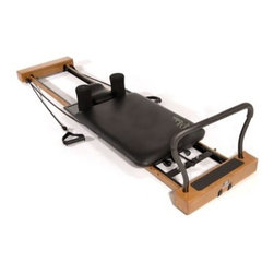 Stamina AeroPilates Home Studio Reformer - For a great versatile pilates workout go with the Stamina AeroPilates Home Studio Reformer. This reformer features a wider curved footbar as well as a taller free-form cardio rebounder for more foot placement options while performing leg work and while jumping. The wooden end caps and trim make this reformer an attractive addition to your home.Three AeroPilates workout DVDs are also included: Introduction to AeroPilates Pure Pilates Level One and Simply Cardio Level One. About Stamina Products Inc.Founded in 1987 Stamina is dedicated to building a stronger healthier you. The company supplies high-quality products at excellent value to the fitness and leisure markets showcasing hundreds of products around the world over the past two decades. Stamina is responsible for such brands as Body by Jake Suzanne Somers Tony Little and more. Their mission is straightforward and admirable: Stamina strives to outperform the competition by maintaining effective communication consistent quality and superior service. They will continue to pursue perfection through the design excellence of these home fitness products.