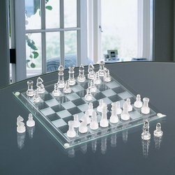 Game Night - Game Night Chess or Checkers Marble Set - Enjoy this beautiful glass gaming set with a friend or family member. Practice the logic of chess or play the geometric challenge of checkers with this glass and marble game set.