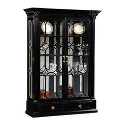 Jonathan Charles - Jonathan Charles Kensington Painted Formal Black China Cabinet - Large black ...