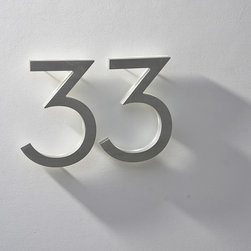 "Neutra 8""  House Numbers LED Illuminated  Outdoor - Luxello Neutra Modern 8"" inch House Numbers feature a backlit LED illuminated casing provides clear and visible address signage at night. Suitable for fine residences and commercial number signage installations."