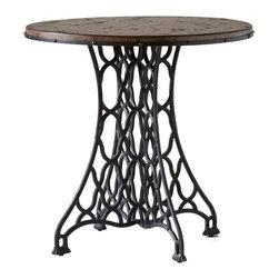Stein World - Stein World Jane Rae Wood and Metal End Table - Jane Rae Wood and Metal End Table by Stein World