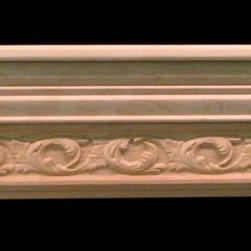 Mantels - Wood carved mantel shelf.
